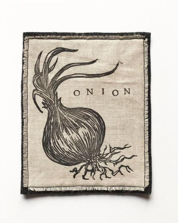 Iron on Onion Patch – Handmade Patch – Vegetable Patch – Garden Patch – Garden Accessories – Vegetab – Products