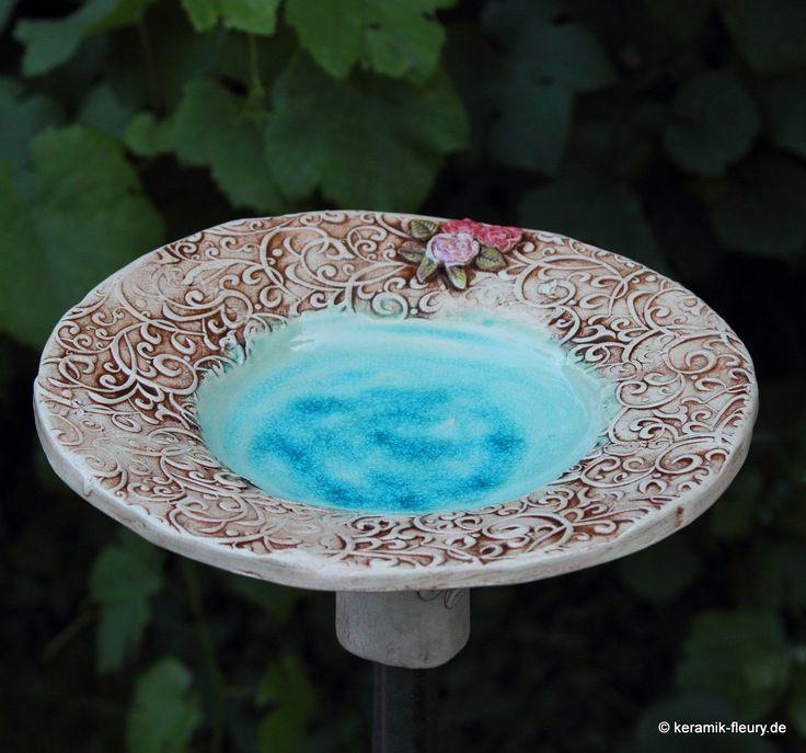 keramik vogeltr nke vogelbad t pferwerkstatt pinterest. Black Bedroom Furniture Sets. Home Design Ideas