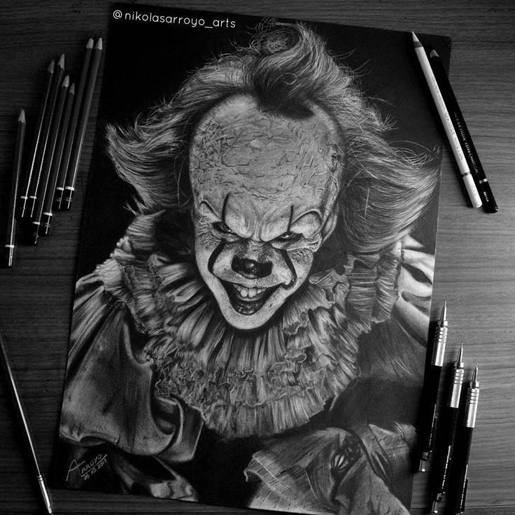 Pennywise drawing by Nikolas Arroyo Art