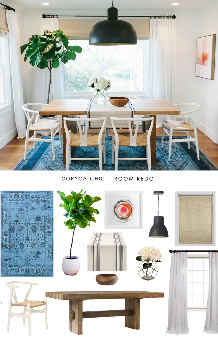 Copy Cat Chic: Copy Cat Chic Room Redo | Vibrant & Airy Dining Room by @audreycdyer