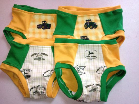 Hey, I found this really awesome Etsy listing at https://www.etsy.com/listing/174095718/john-deere-training-underwear-set-of