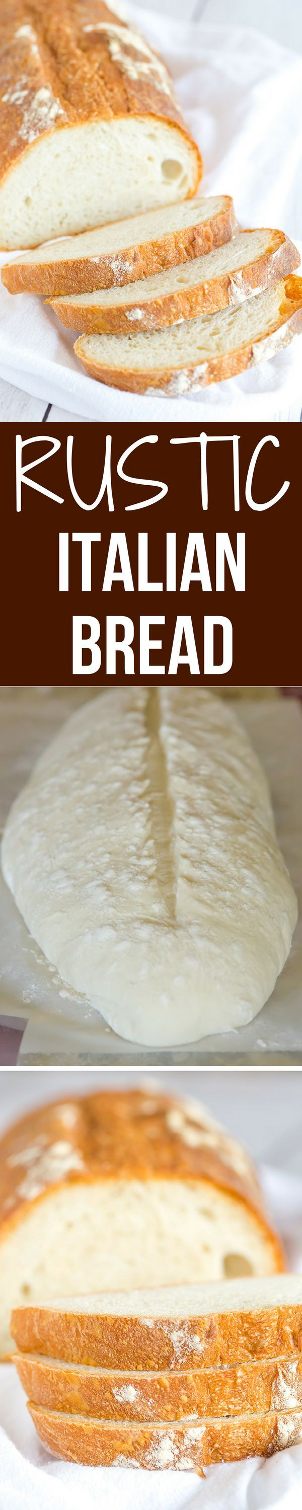 This Italian bread recipe takes some time to come together, but the hard crust…