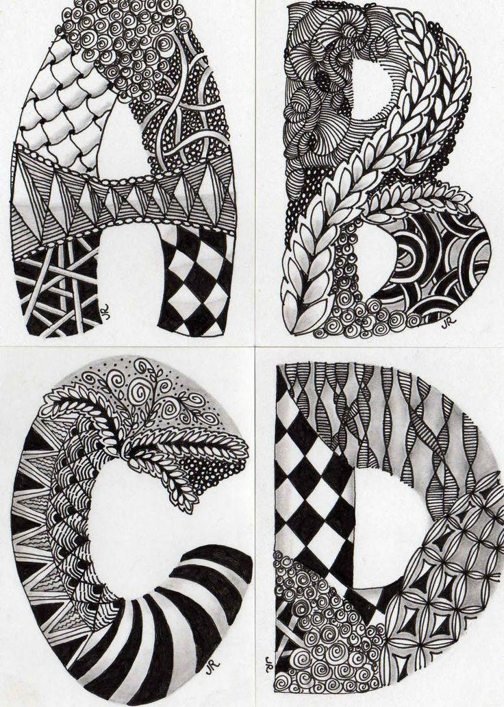 Zentangle voor tekenen #letters