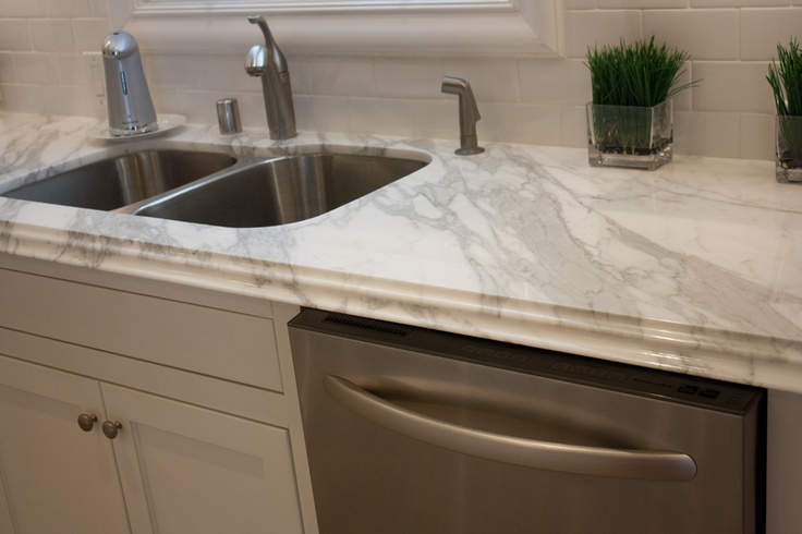 Concrete That Looks Like Soapstone Countertops : Callacutta counter top and taupe cabinets do you like