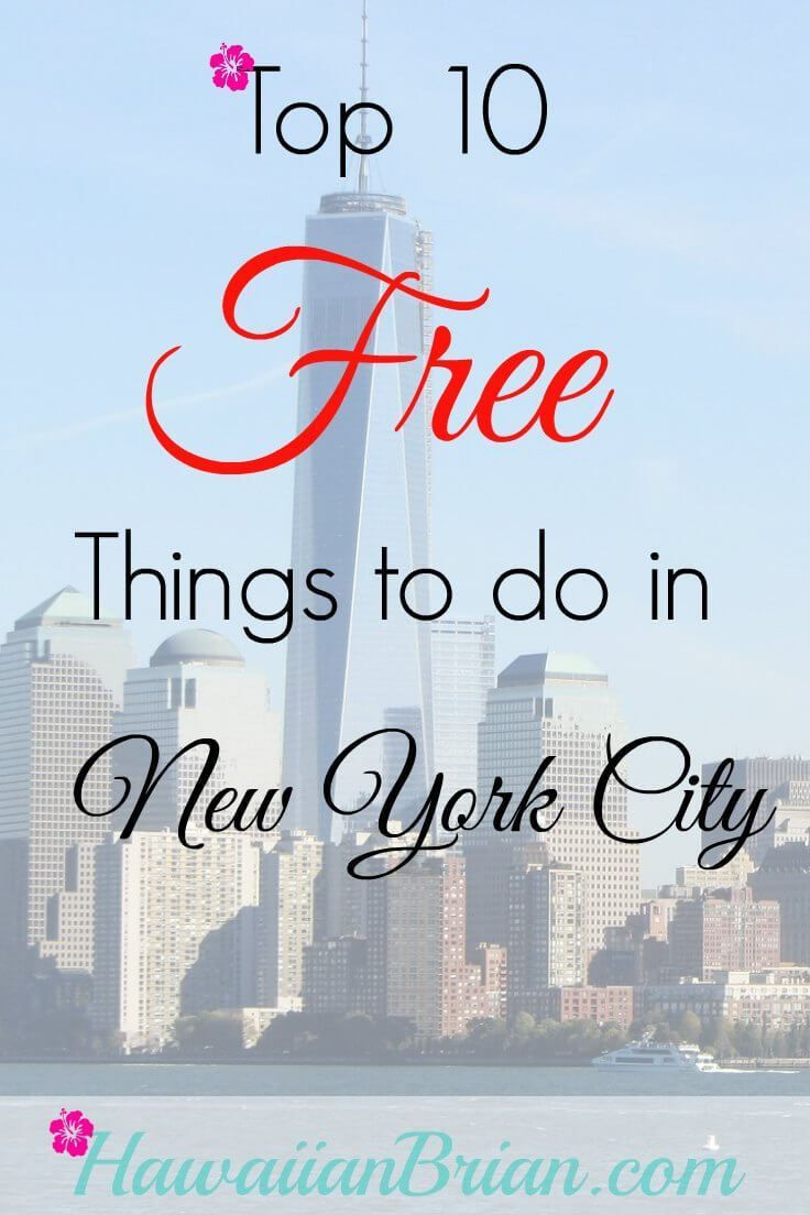 New York City is one of the most expensive cities in the world, but that doesn't mean you can't find some meaningful and interesting experiences for free.  Stretch your travel budget by taking advantage of the following free activities. #NewYorkCity #Free #TopTen #NYC #Travelblog