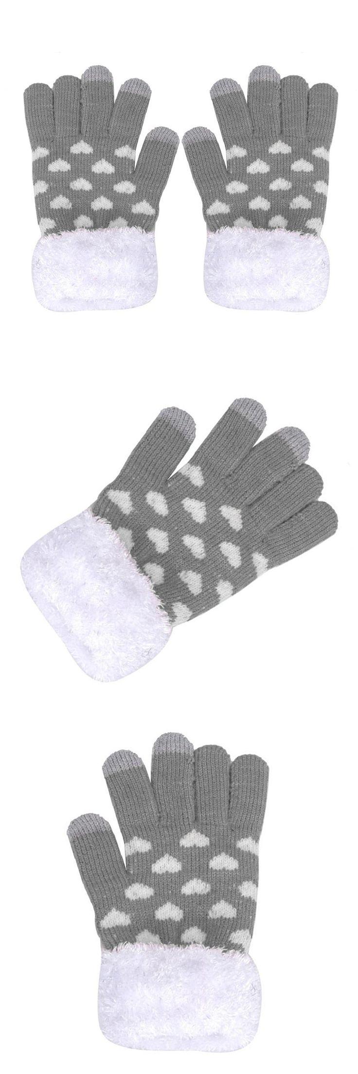 Womens Warm Winter Gloves Touch GlovesTouchscreen Gloves - gray