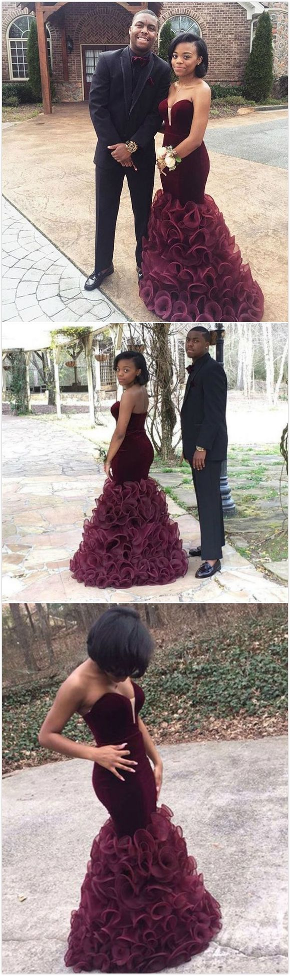 Sexy Sweetheart Cascading Satin Prom Dresses 2017