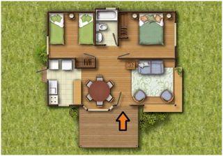 Planos Casas de Madera Prefabricadas: Plano de Casa Prefabricada