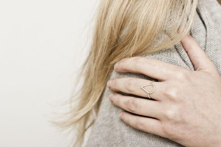 Magdalena Paszkiewicz Jewellery- Teardrop ring (silver)