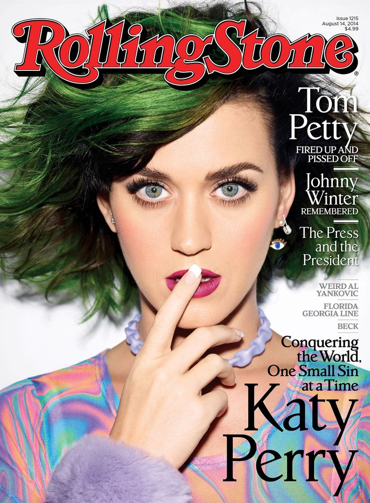 Rolling Stone cover (August/2014) photographed by Peggy Sirota.... Shh,code + green hair.