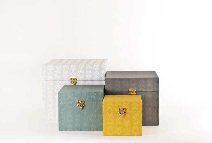 Gorgeous storage! HUNTER boxes from Lagerhaus #organize #boxes #office #2014