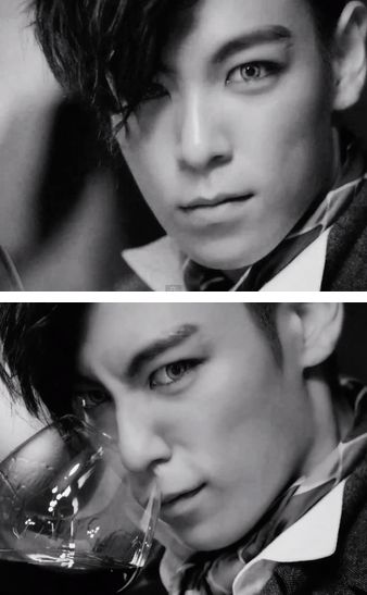 TOP (Choi Seung Hyun) ♡  BIG BANG – 'DOOM DADA' MV    making contacts and makeup on men sexy.