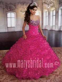 Resultado de imagen para Mexican quinceanera dresses :pink and max puffy and queen size
