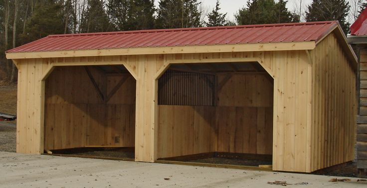12 best open sided buildings images on pinterest for Tractor garage plans