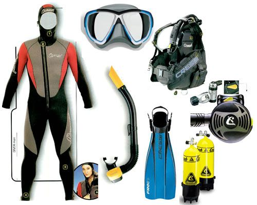 scuba diving equipment for those trips in the furture
