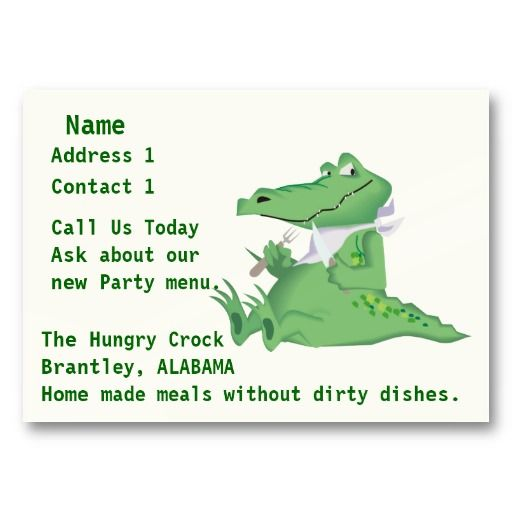No Dirty Dishes Catering Business Card #businesscards