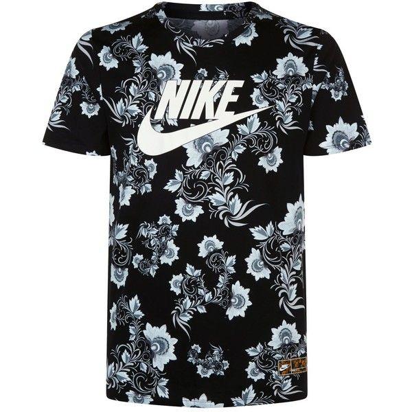 Nike Floral Print T-Shirt ($42) ❤ liked