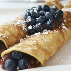 Vanilla Crepes, yum, yum, yum...making these tomorrow morning!