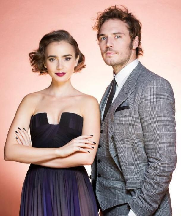 Lily Collins and Sam Claflin :)   Famosos, Series y ...