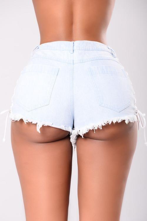 Drifting Away Denim Shorts - Light Denim