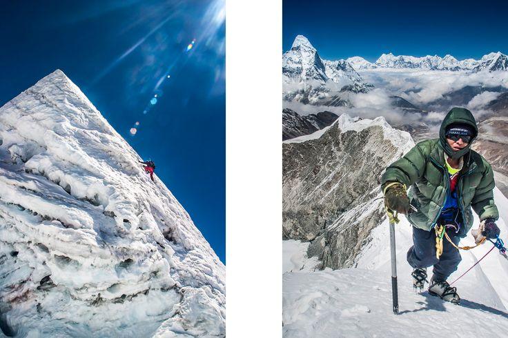 Climbing Island Peak, Himalayas, Nepal