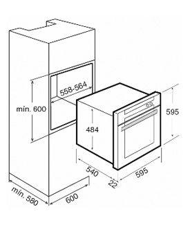 Medida de horno empotrado buscar con google kitchen for Dimensiones horno empotrado