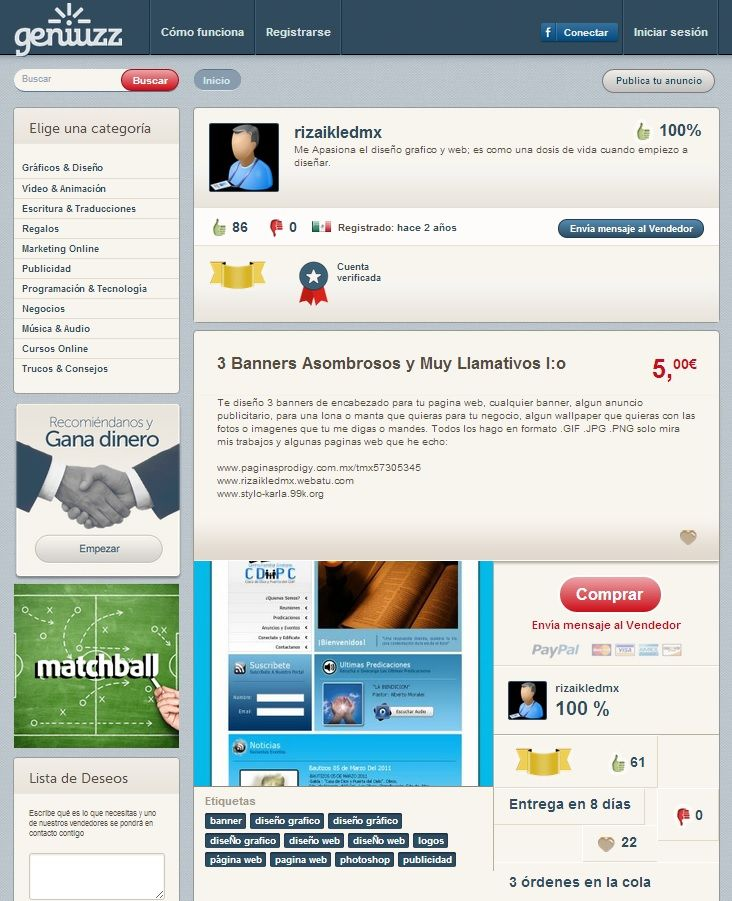 rizaikledmx Un Vendedor de Nivel Oro, experto y apasionado del Diseño Gráfico http://www.geniuzz.com/rizaikledmx