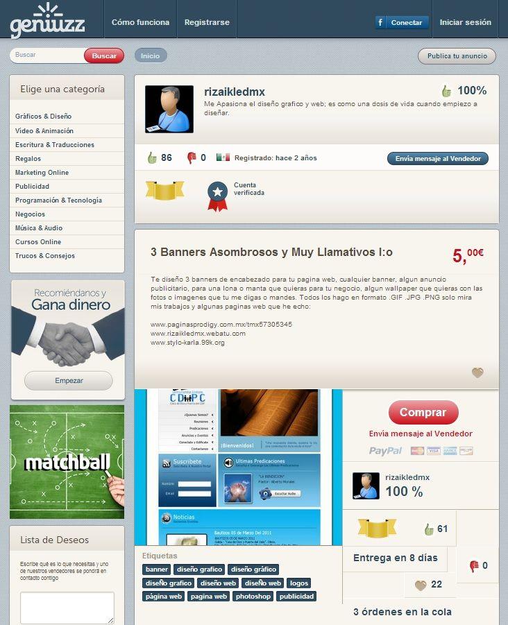 www.geniuzz.com rizaikledmx Un Vendedor de Nivel Oro, experto y apasionado del Diseño Gráfico http://www.geniuzz.com/rizaikledmx