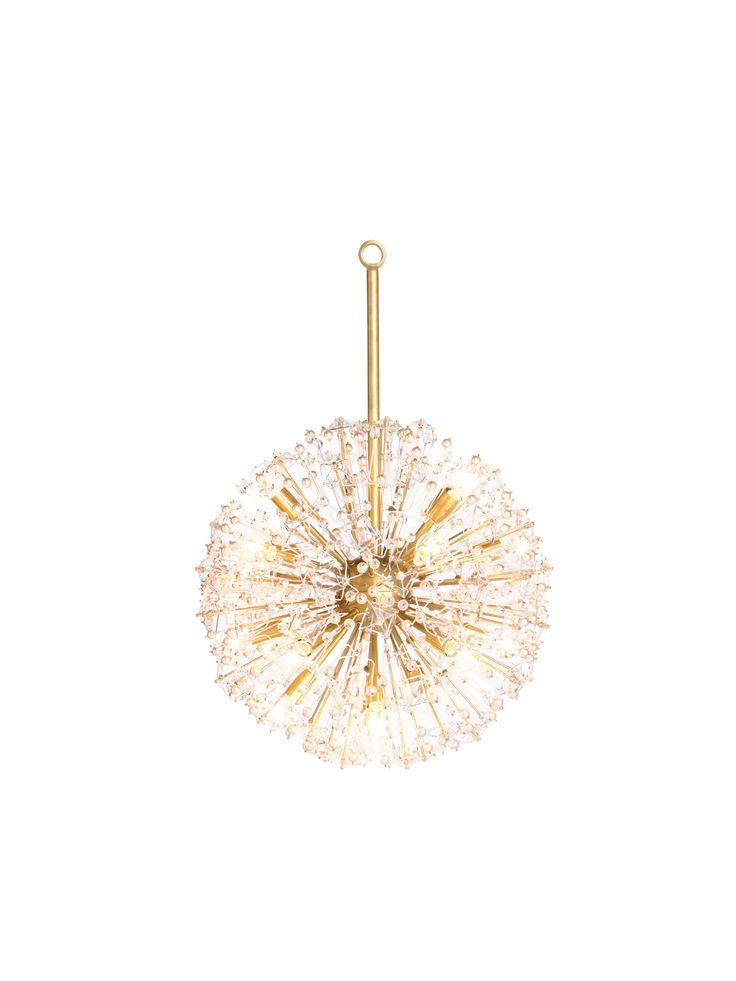 """Occasionally you need a little backup to light up the room. The """"dickinson"""", with its stunning starburst design and clusters of pearls and crystals, is up for the task--and brings a little glamour along, too. #KateSpade #HomeDecor"""