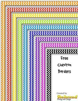 Nine chevron borders in various colors.Enjoy.Thanks!TravisRelaxed Designs