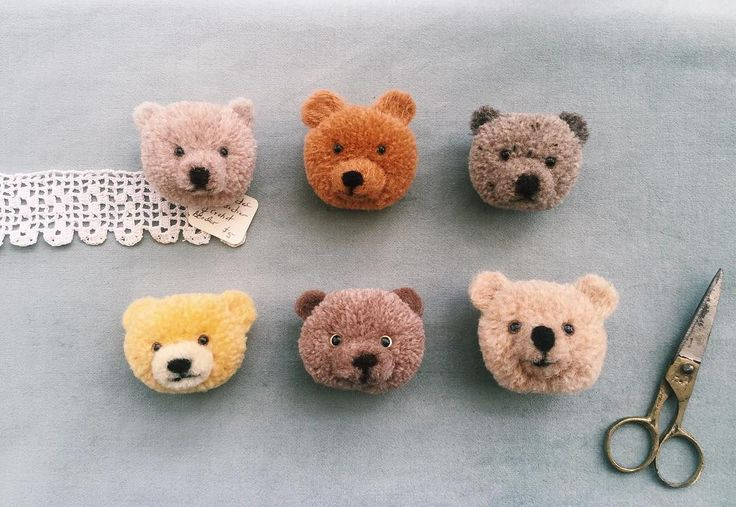 More bears from pom-poms!!