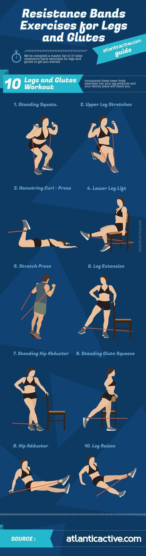 Resistance Band Exercises for Legs and Glutes