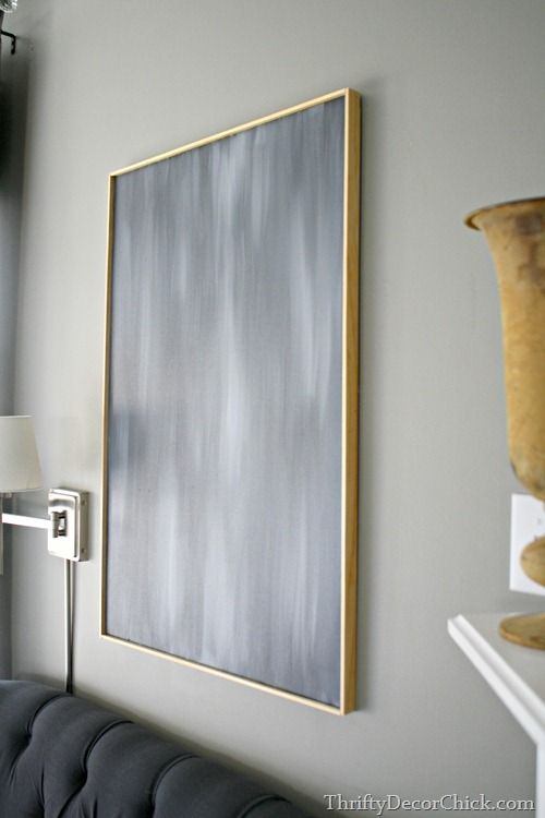 DIY Art & super easy/cheap frame for a canvas   Thrifty Decor Chick I can't wait to try this.