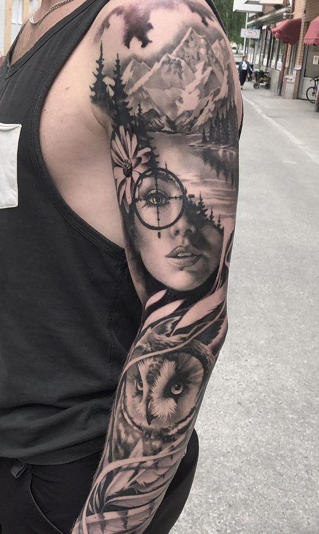 50 Männer-Tattoos mit geschlossenem Arm zur Inspiration – TopTattoos #Arm #Clos…