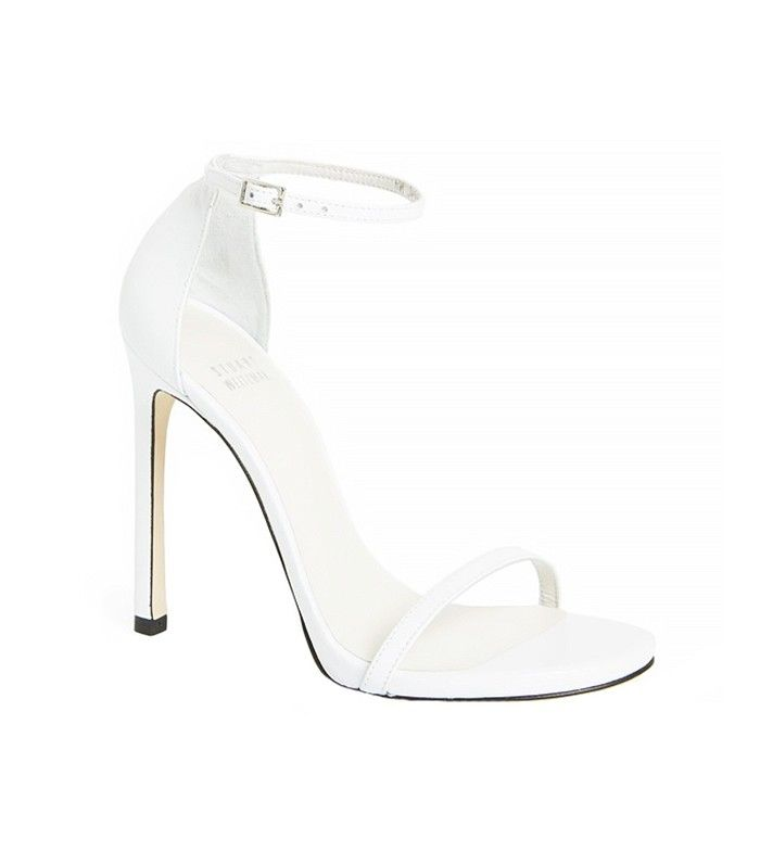 Stuart Weitzman Nudist Sandals in White