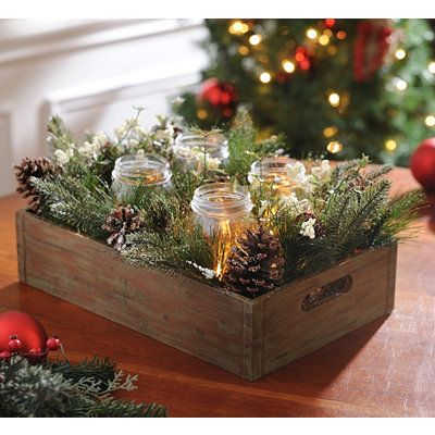 Mason Jar Pine Arrangement