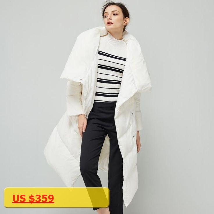 LYNETTES CHINOISERIE Winter New Arrival Original Design Women Formal Brief Loose Handsome White Duck Down Coat Jacket Outerwear