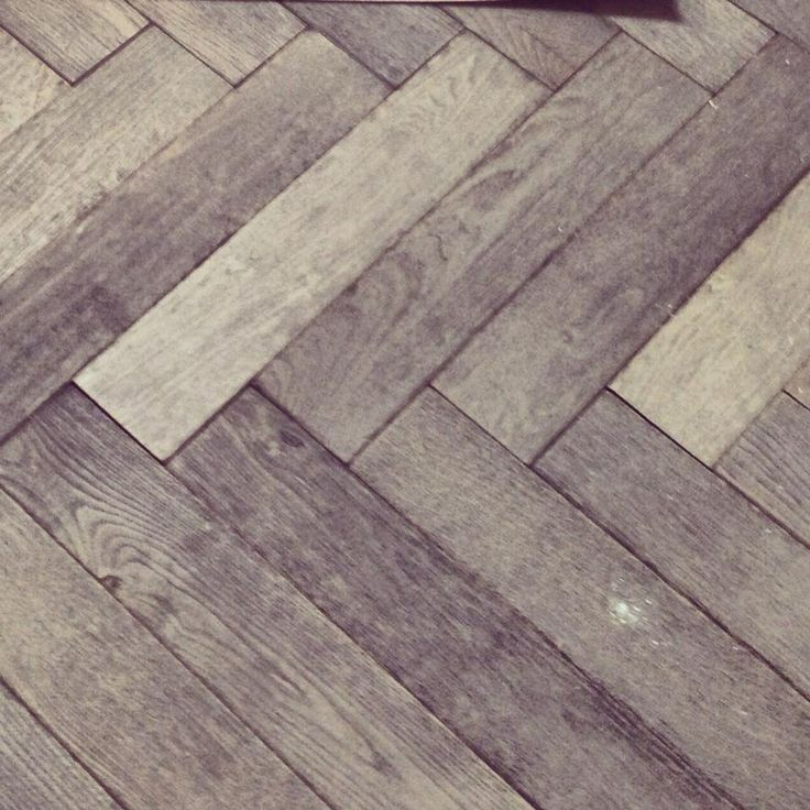 herringbone grey wood flooring. A thousand times yes!