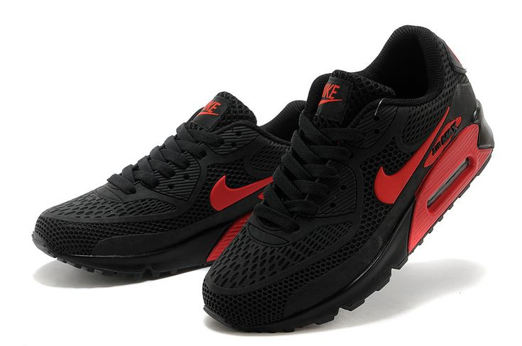 Nike air max 90 Black Red Women's shoes