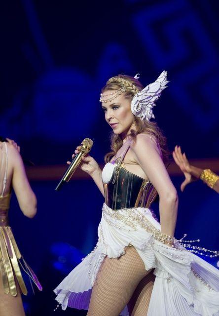 Kylie Minogue Stage During Her Aphrodite Les Folies Tour The Brisbane ...