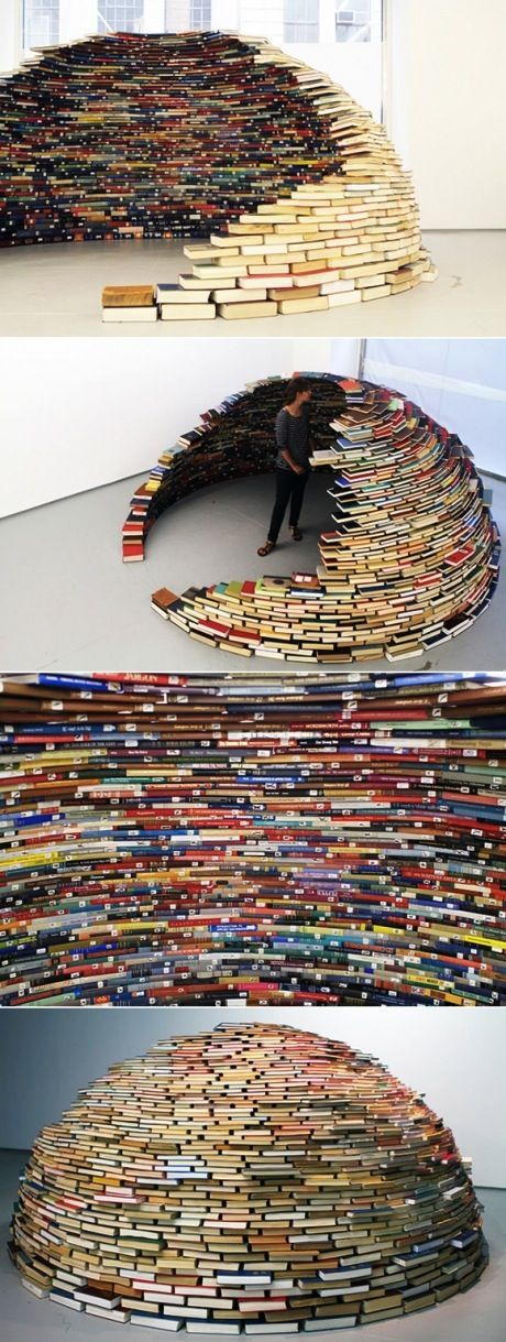Can't do this with fricking Kindles.Book Worms, Book Art, Book Stuff, Book Worth, Awesome, Book Dome, Amazing Book, Reading Nooks, Book Igloo