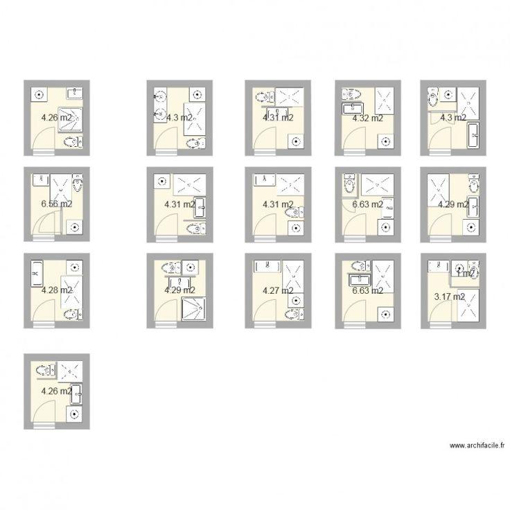 plan salle de bain 3m2 salle de bains pinterest salle de bain 3m2 plan salle de bain et plans. Black Bedroom Furniture Sets. Home Design Ideas