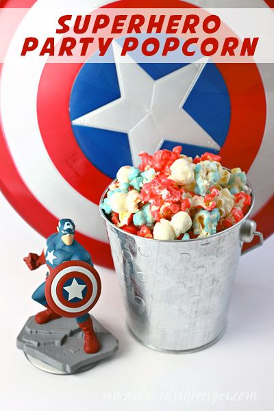 What's better than popcorn and a movie? Adding superheroes! This Superhero Party Popcorn recipe is an easy-to-make snack that's perfect for munching on while watching your favorite heroes in action.