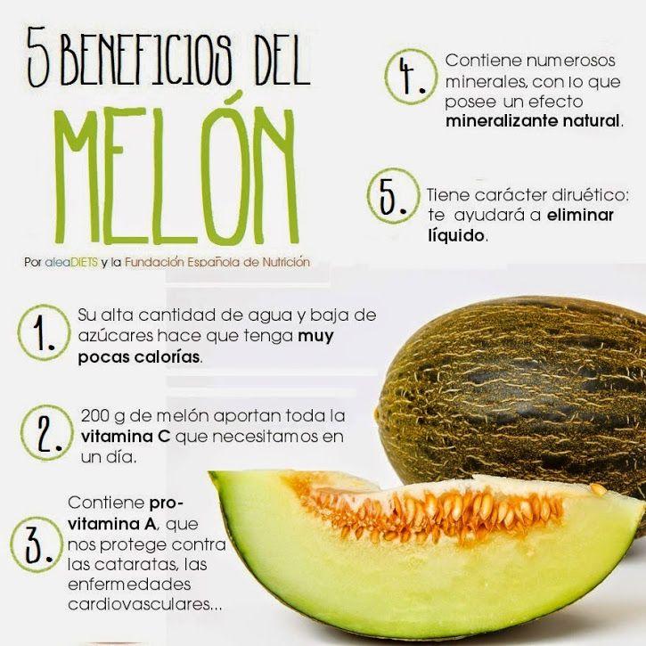 Beneficios para la salud del melón. #infografia #salud #melon