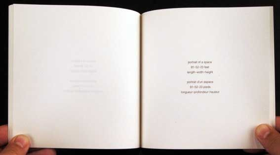 Artist's book by Brouwn Stanley - Portraits of spaces