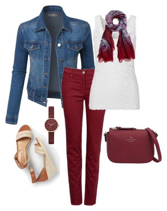 """""""Untitled#198"""" by bidlekerika on Polyvore featuring Talbots, LE3NO, Kate Spade, Liberty and Skagen"""
