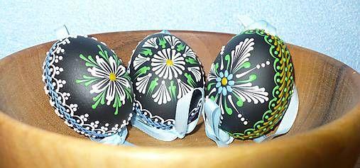 SlovakFolkArt / Kraslica vosková (čierno-zelená)