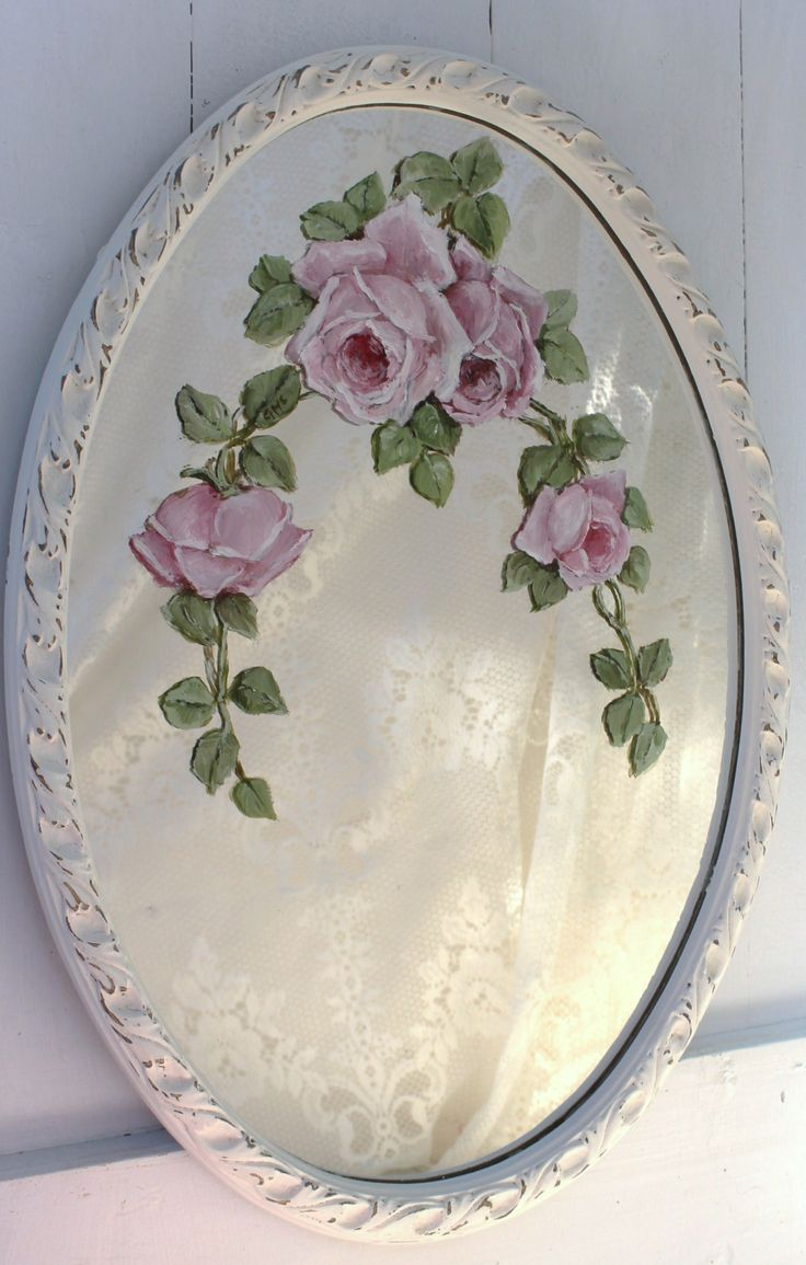 Vintage Hand Painted Mirror Www Gailmccormack Com