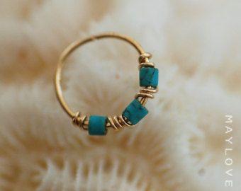 Delgado piedra diciembre de hélice piercing por sofisjewelryshop