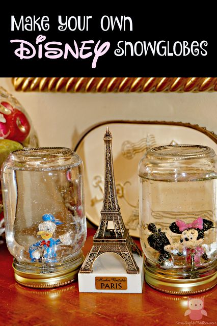 DIY Disney Snow Globes - Easy Crafts for Kids | Growing up Madison